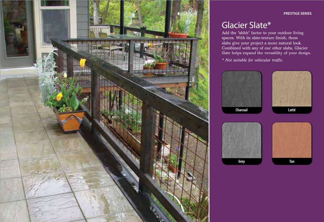 Glacier Slate slab