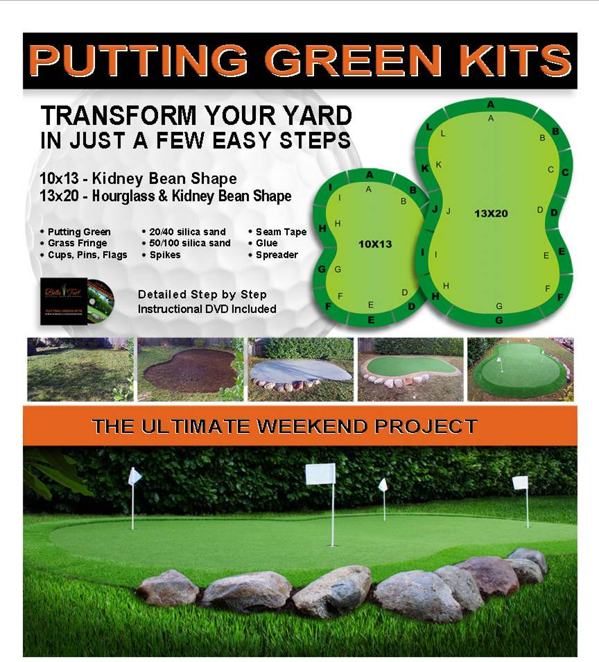 bella turf putting green kit